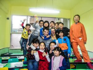 happy children in a tefl classroom china