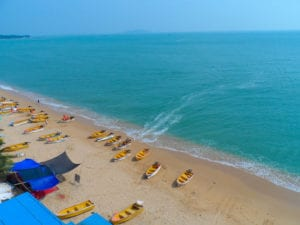 Sandy beach nearby Sanya, Hainan