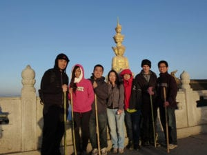 Summit of emei mountain. Choose a job you truly love